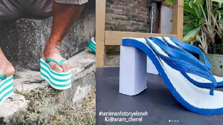 Beberapa Foto Modifikasi Sandal Jepit yang Unik dan Futuristik